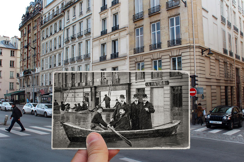 then and now the 1910 great flood of paris vs 2016 floods twistedsifter. Black Bedroom Furniture Sets. Home Design Ideas