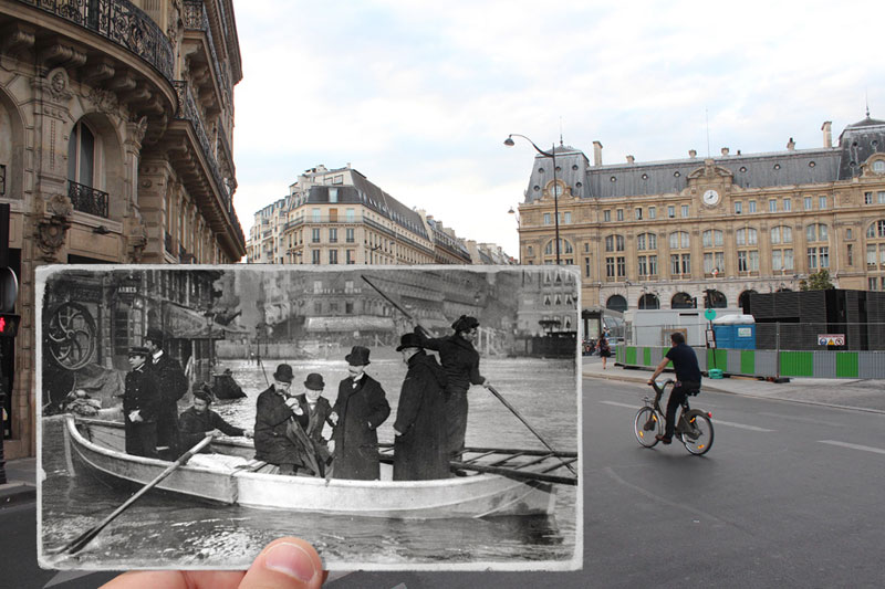 Then and Now The 1910 Great Flood of Paris vs 2016 Floods (3)