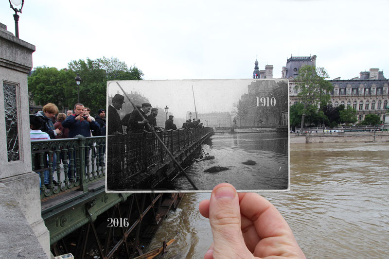 Then and Now The 1910 Great Flood of Paris vs 2016 Floods (5)