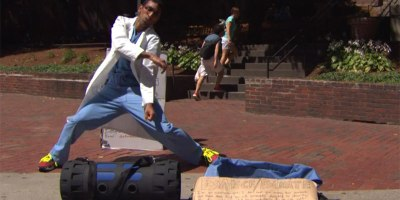 Twice a Week, this Doctor Dances in the Streets of Boston for Charity
