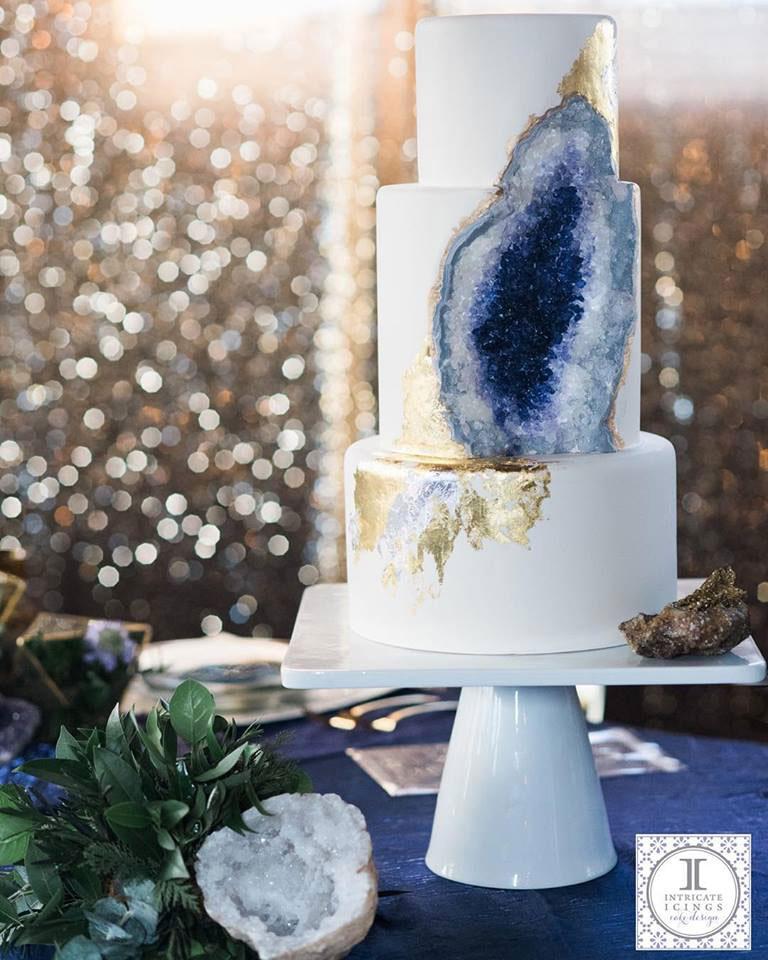 amethyst geode wedding cake by intricate icings (2)