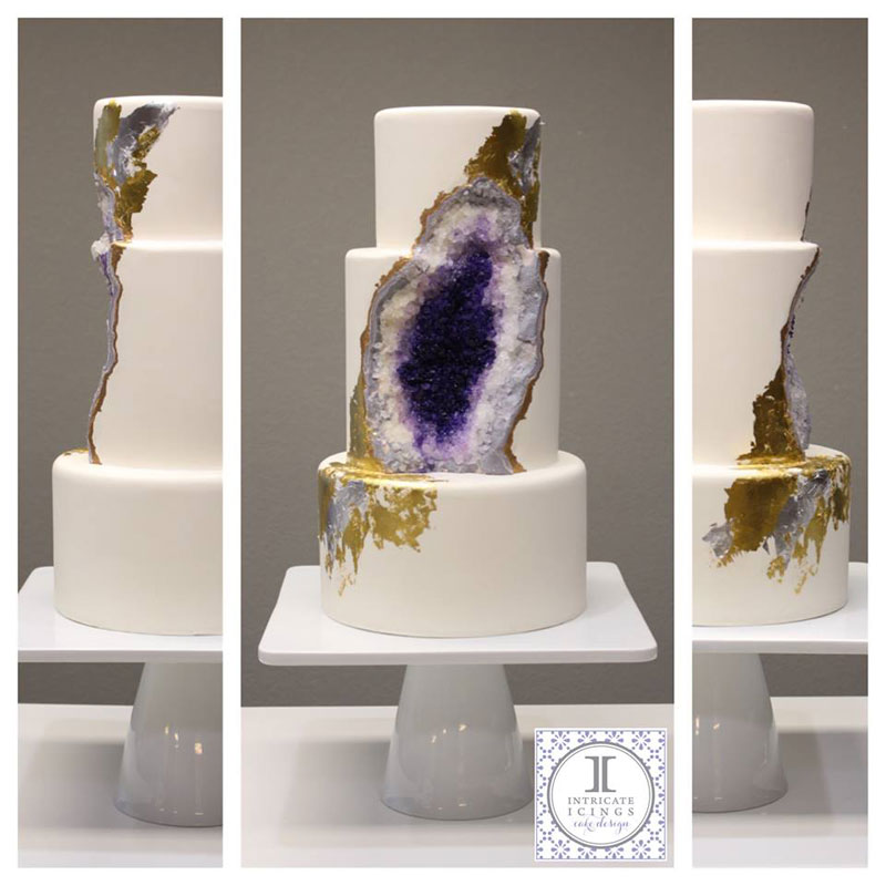 amethyst geode wedding cake by intricate icings (3)