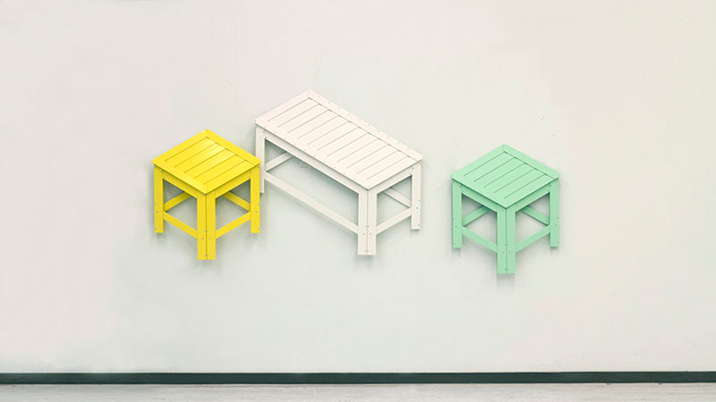 Collapsible Furniture Hangs on Your Wall When Not In Use by Jongha Choi (1)