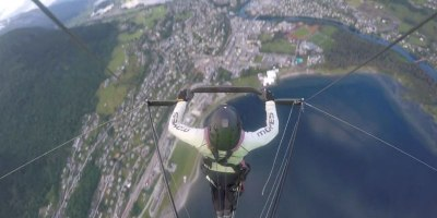 Probably the Most Intense Hang Gliding Video I'veSeen