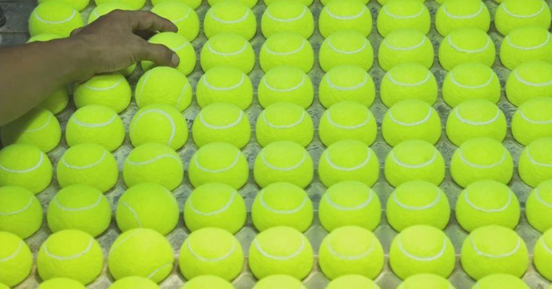 How a Tennis Ball is Made