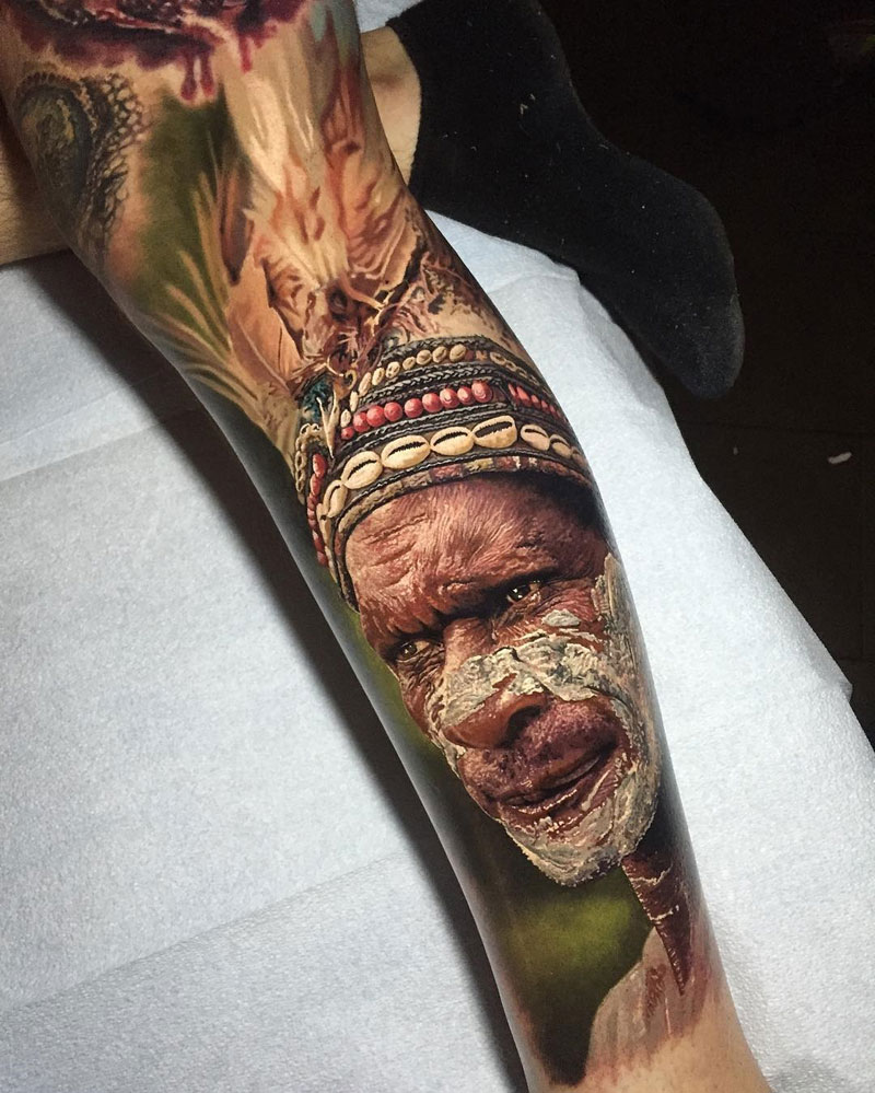 Hyperrealistic Tattoos by Steve Butcher Look Like Photos Printed on Skin (6)