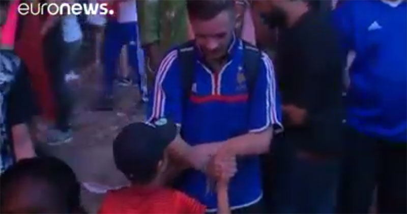 Young Portugal Fan Consoles Frenchman After Heartbreaking Loss