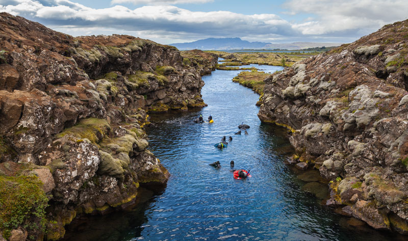 Picture of the Day: Snorkelling Between Two Tectonic Plates