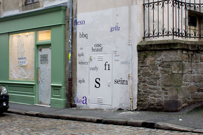 Street Artist Mathieu Tremblin Makes Graffiti Legible By Rewriting Them in Plain Text (10)