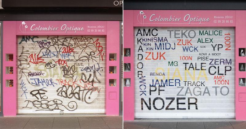 Artist Makes Graffiti Legible By Rewriting It In PlainText