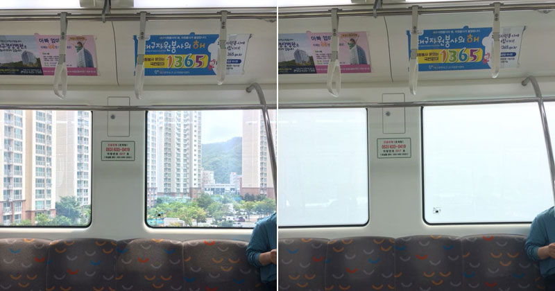 The Windows on this Train Automatically Fog When Passing NearbyApartments