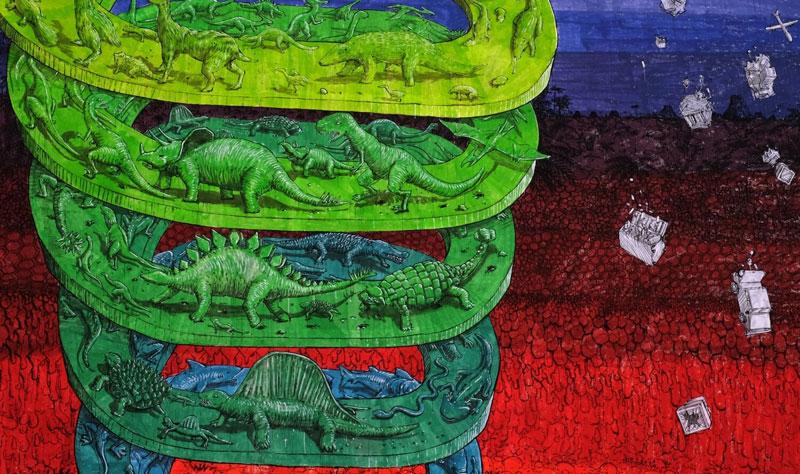 7 story mural by blu rome italy casa dei pazzi spiral (4)