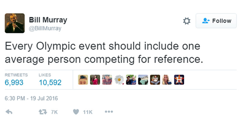 bill murray every olympic event tweet The Shirk Report – Volume 382