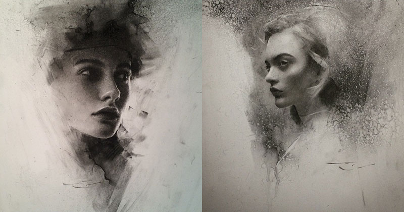 Stunning Charcoal Drawings on Paper by CaseyBaugh