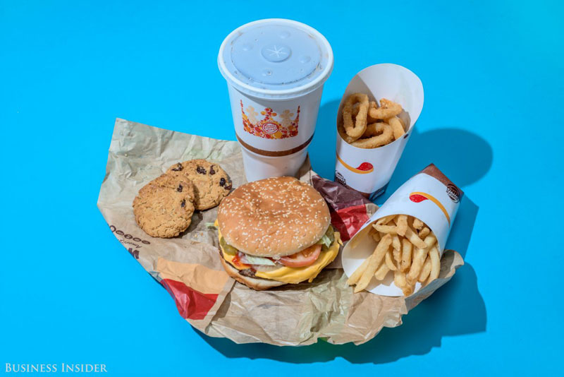 daily calroie intake fast food burger king What Your Entire Daily Calorie Intake Looks Like at 8 Popular Fast Food Chains