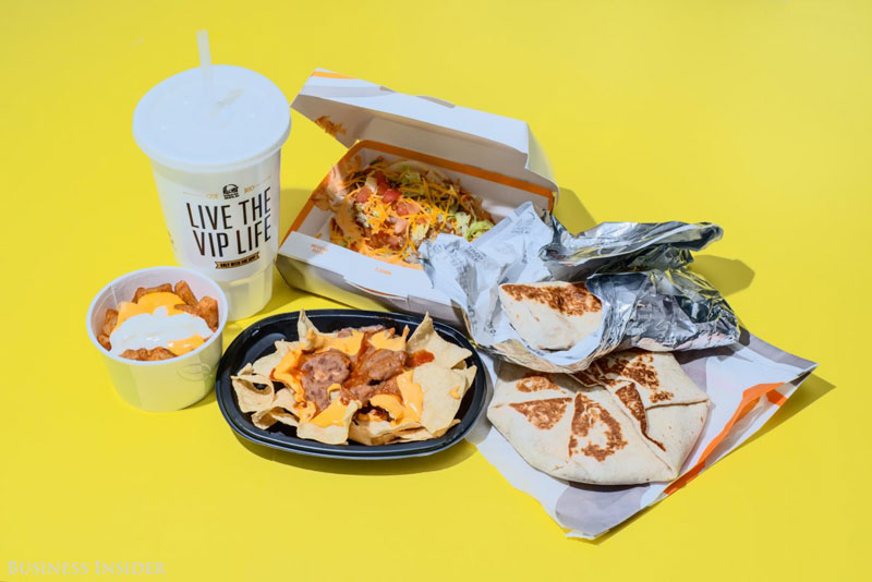 daily calroie intake fast food taco bell What Your Entire Daily Calorie Intake Looks Like at 8 Popular Fast Food Chains