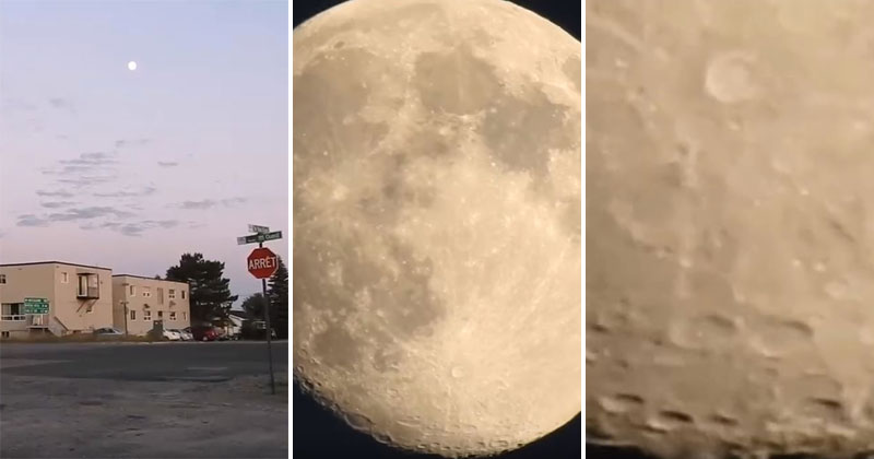Digital Camera Zooms In On theMoon