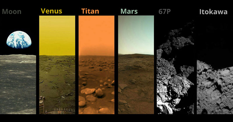 Every Extraterrestrial Body We Have Landed On andPhotographed