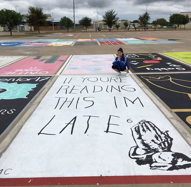 High Schools Let Their Seniors Paint Their Parking Spots (1)