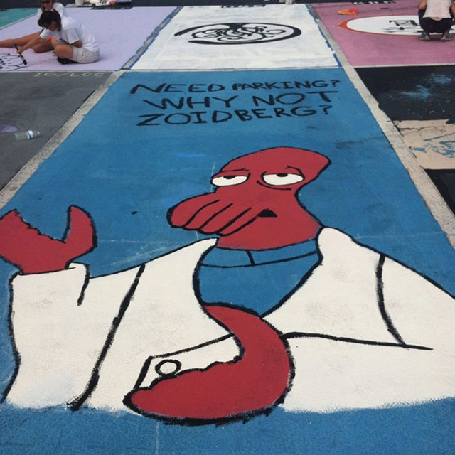 High Schools Let Their Seniors Paint Their Parking Spots (11)