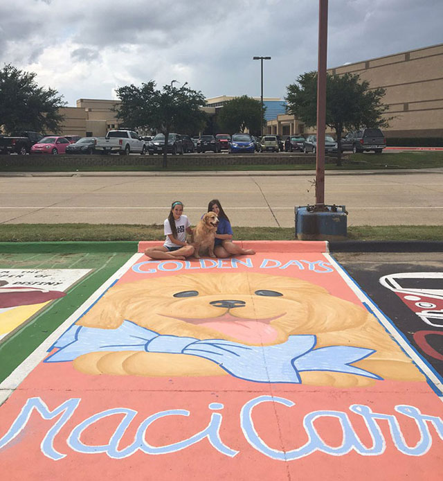 High Schools Let Their Seniors Paint Their Parking Spots (12)