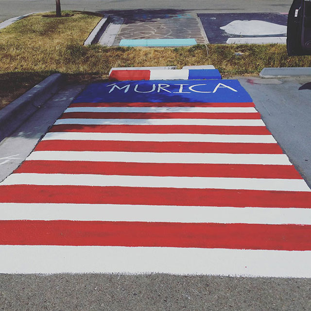 High Schools Let Their Seniors Paint Their Parking Spots (18)