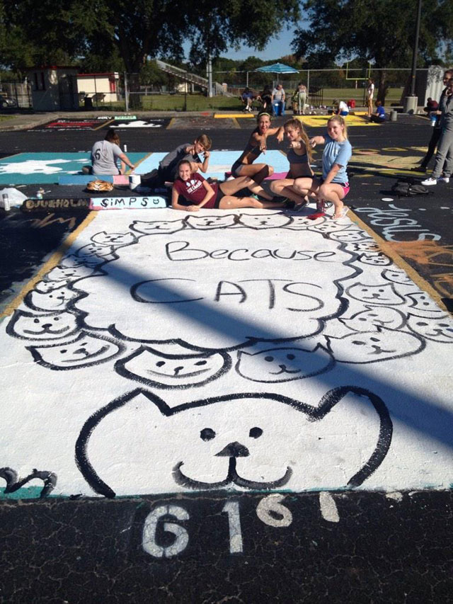 High Schools Let Their Seniors Paint Their Parking Spots (23)