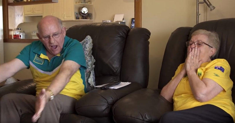 Kyle Chalmers' Grandparents Reaction When He Wins Gold in Rio is Priceless