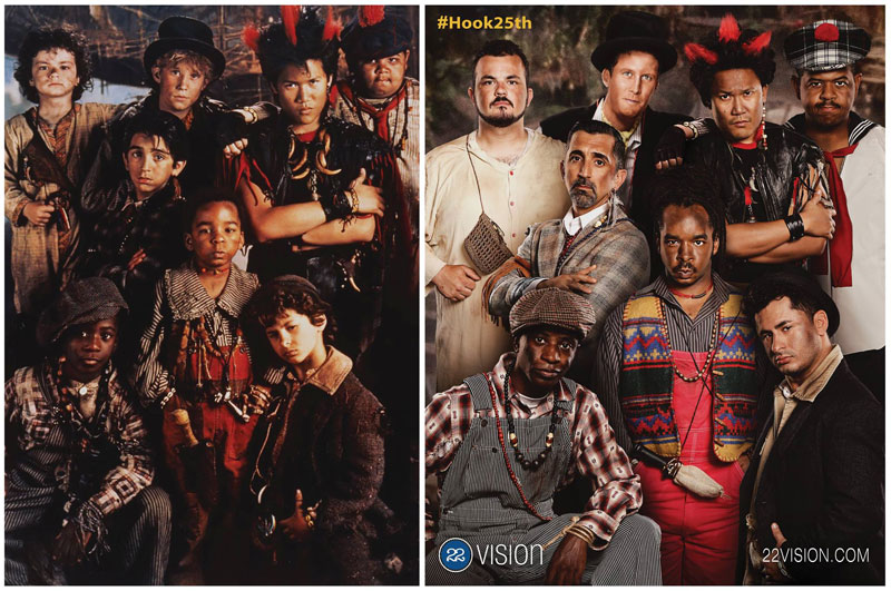 lost boys from hook 25 years later then and now side by side comparison 22 vision The Lost Boys from Hook 25 Years Later