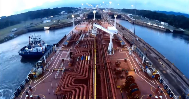 Panama Canal Timelapse from a Ship's POV