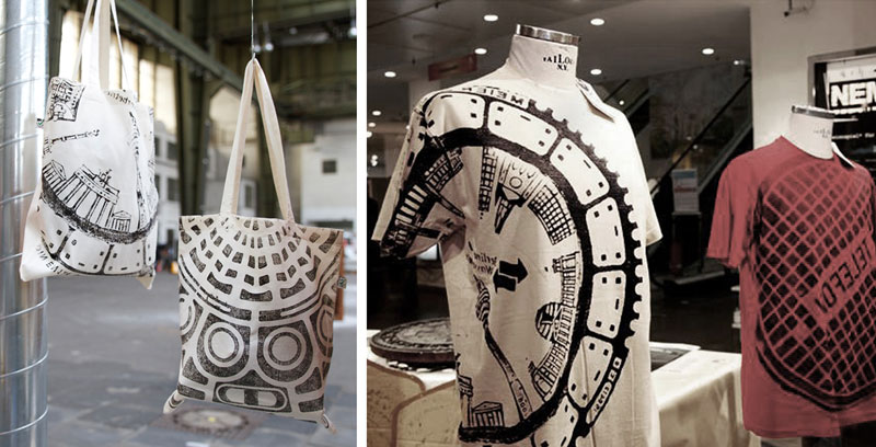 Raubdruckerin-Guerilla-Printing-Manhole-Covers-Onto-Shirts-and-Bags-(15)