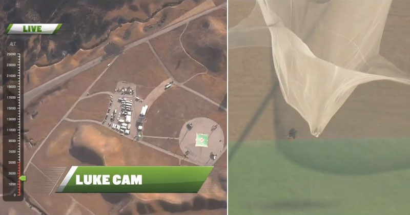 Skydiver Jumps Out of Plane With No Parachute and Lands Into GiantNet