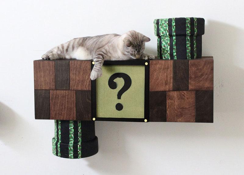 Amazing Super Mario Cat Furniture By Catastrophic Creations (1)