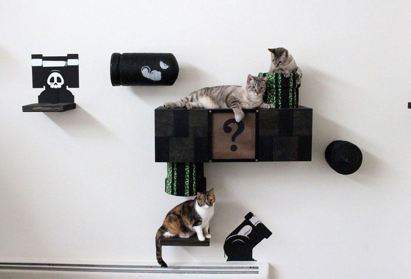 super mario cat furniture by catastrophic creations (4)