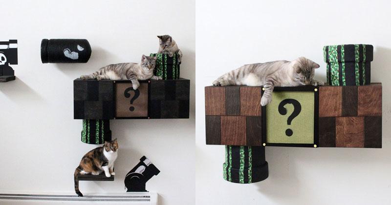 This Super Mario Cat Furniture isAmazing