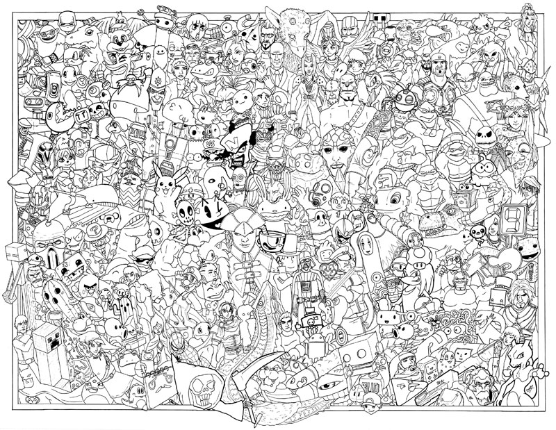 video game coloring poster by austin alander (1)