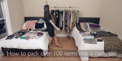 Woman Packs 100+ Items Into CarryOn