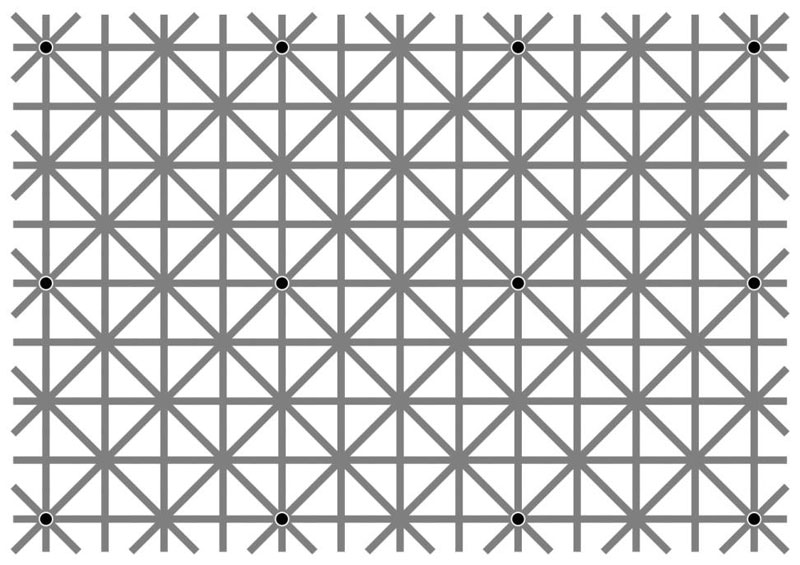 12 dots illusion by jacques ninio There are 12 Dots But You Cant See Them All at Once