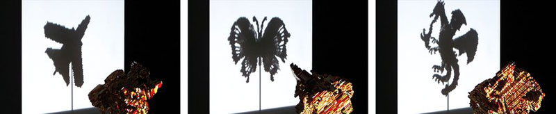 3-in-1 LEGO Shadow Sculptures by John Muntean (2)