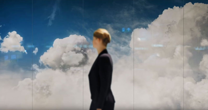 beyond by daan roosegaarde schiphol airport netherlands 13 Artist Unveils Worlds Largest Lenticular Print at Schiphol Airport