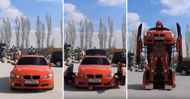 bmw transformer by letrons 8 Turkish Engineers Build Full Scale, Driveable BMW Transformer