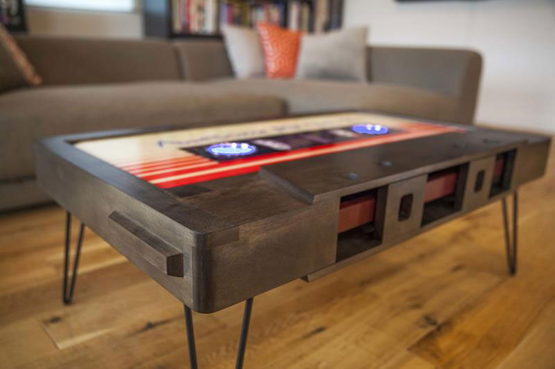 Perfect cassette tape coffee tables by taybles graffiti These Retro Cassette Tape Coffee Tables are