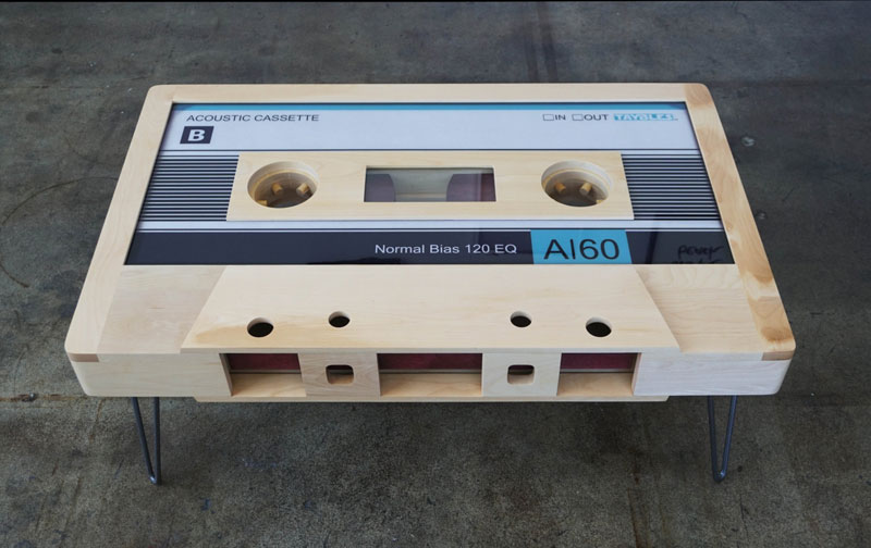 These Retro Cassette Tape Coffee Tables areAwesome