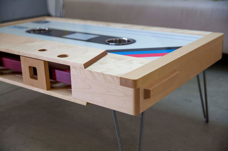 cassette tape coffee tables by taybles 214 graffiti 8 These Retro Cassette Tape Coffee Tables are Awesome