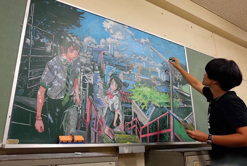 dibujos de la pizarra por Hamasaki Hirotaka 2 Maestro Delights Los estudiantes con una increíble Pizarra Dibujos