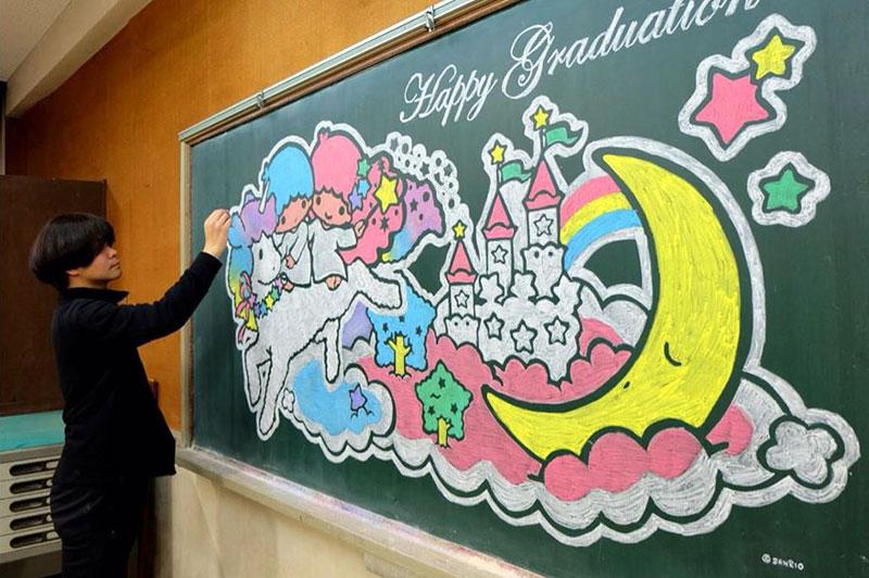 dibujos de la pizarra por Hamasaki Hirotaka 6 Maestro Delights Los estudiantes con una increíble Pizarra Dibujos