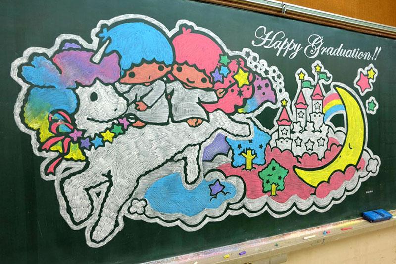 dibujos de la pizarra por Hamasaki Hirotaka 7 Maestro Delights Los estudiantes con una increíble Pizarra Dibujos