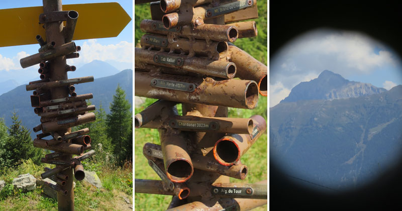 Clever Swiss Direction Sign Doubles as Viewfinder for NearbyMountains