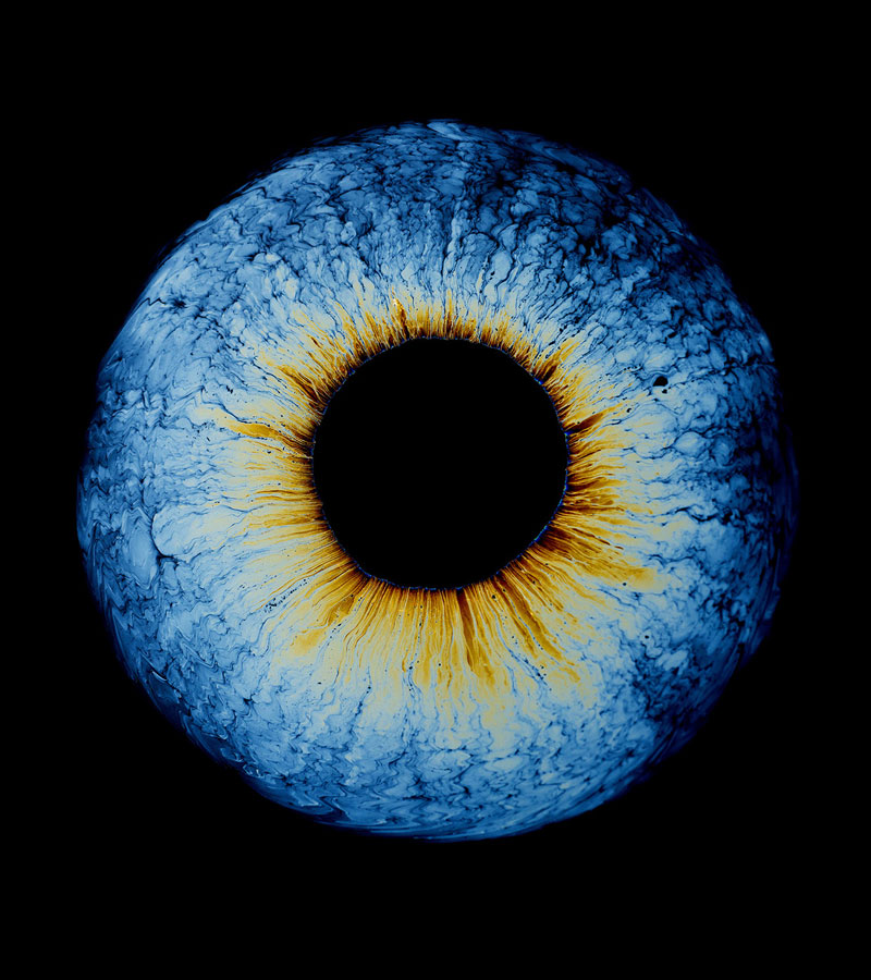 These Surreal Photos of Oil Dropped Into Water Look Like Eyes