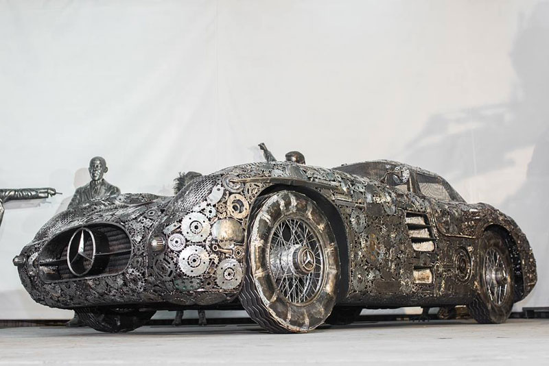 scrap metal supercars gallery of steel figures pruszkow poland 1 Scrap Metal Supercars (12 Photos)